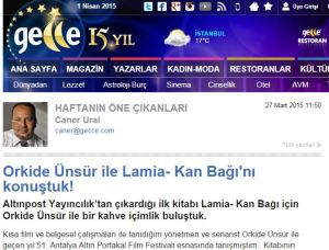 CANER URAL GECCE.COM Ekran Alıntısı