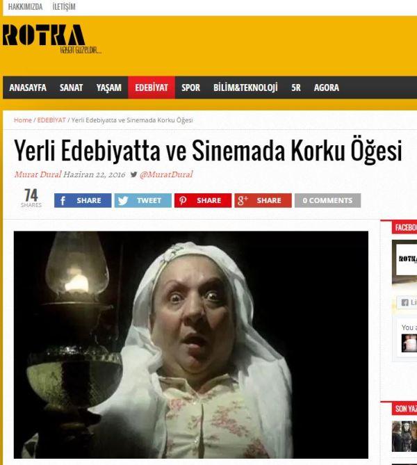 Yerli Edebiyatta ve Sinemada Korku Öğesi Yazan: Murat Dural